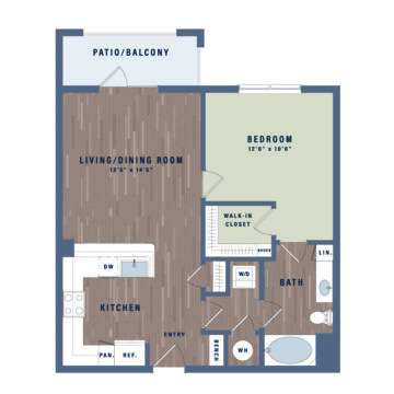 Apartment 10-209 floor plan