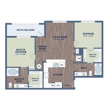 Apartment WAITAB1A floor plan