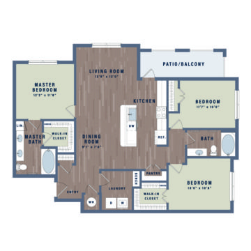 Apartment 10-210 floor plan