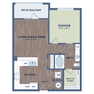 Apartment 07-104 floor plan