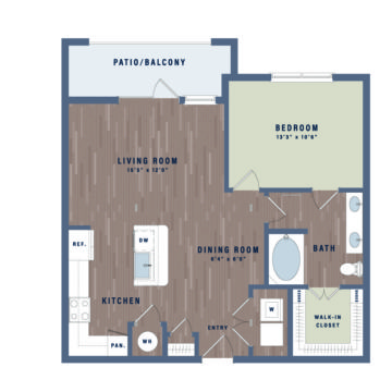 Apartment 04-201 floor plan