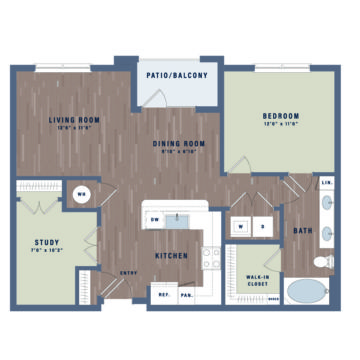 Apartment 09-306 floor plan