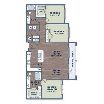 Apartment WAITAC2A floor plan